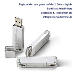 USB-Stick Alu-Transparent (Artikelnr.: osfal53)